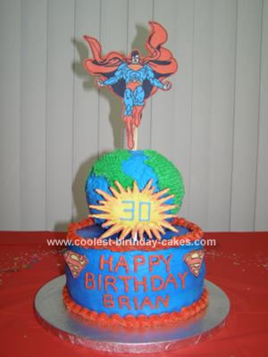 I made this Superman cake for my husband 39s best friend 39s 30th birthday