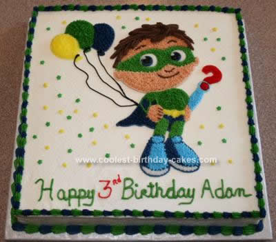 Homemade SuperWhy! Birthday Cake