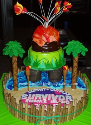 Homemade Survivor Birthday Cake