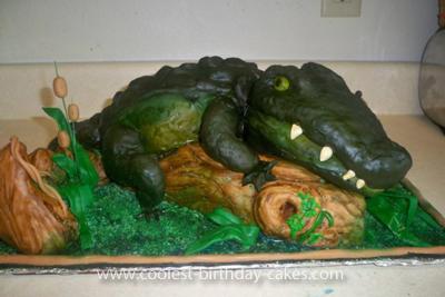 Homemade Swamp People Birthday Cake