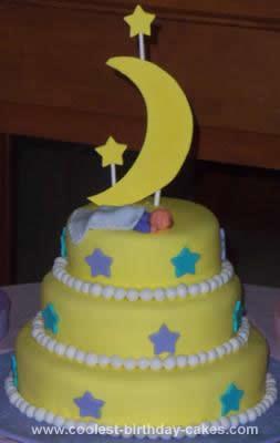 Homemade Sweet Dreams Baby Cake