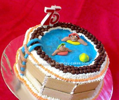 birthday cake symbol. Homemade Swimming Pool Birthday Cake. I'd wanted to make something fun and
