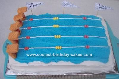 Pin Coolest Swimming Pool Party Cake 45 Cake on Pinterest