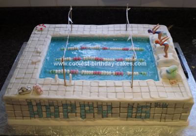 Pin Coolest Swimming Pool Birthday Cake 35 Cake on Pinterest