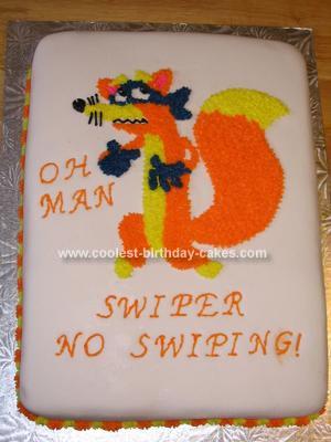 Homemade Swiper The Fox Birthday Cake