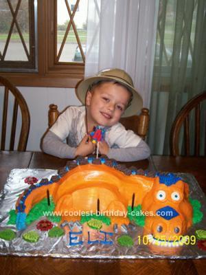 Homemade T Rex Birthday Cake