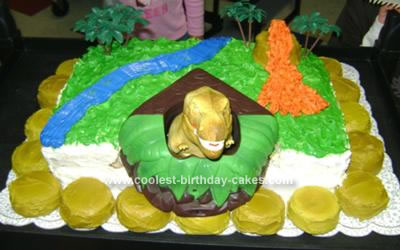 Homemade T-Rex Cake