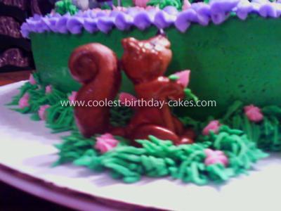 Homemade Tangled Birthday Cake
