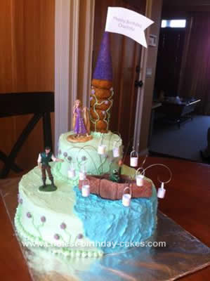Homemade Tangled Rapunzel Birthday Cake