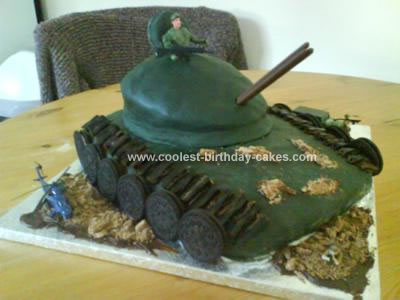 Homemade Tank Birthday Cake