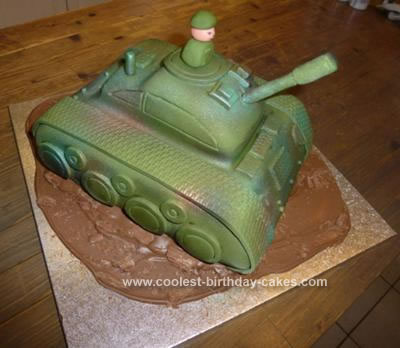 Homemade Tank Cake