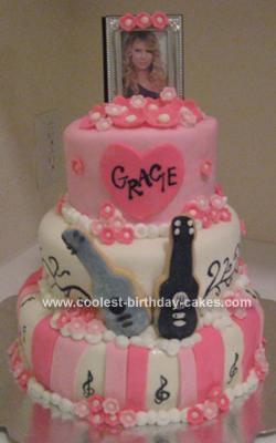 Taylor Swiftbirthday on Homemade Taylor Swift Birthday Cake
