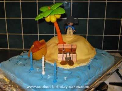 Homemade Teasure Island Cake