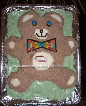 Bear Pookie Birthday Cake