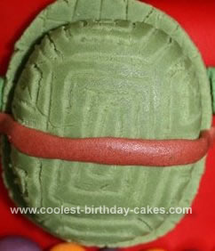 Homemade Teenage Mutant Ninja Turtles Birthday Cake