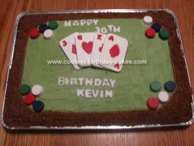 Homemade Texas Hold Em Cake