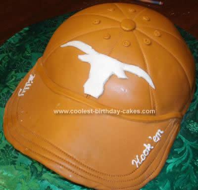 Longhorns Baseball Cap Cake