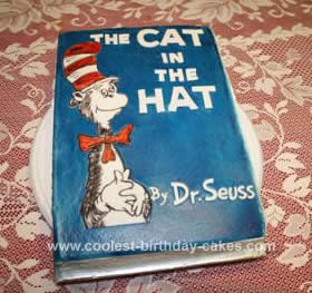 Homemade The Cat in the Hat Book Cake