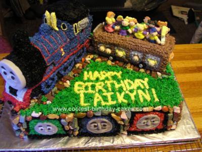 Homemade Thomas Birthday Cake