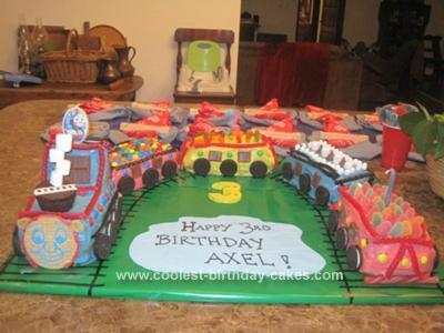 Homemade Thomas Candy Train Cake