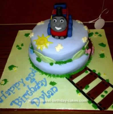 Homemade Thomas The Tank Birthday Cake