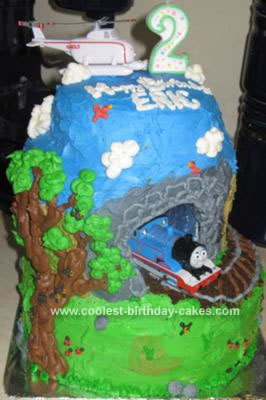 Homemade Birthday Cakes on Homemade Thomas The Train Birthday Cake