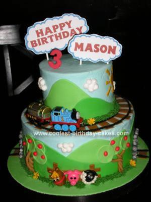 Train Birthday Cake on Coolest Thomas The Train Birthday Cake 136 21341545 Jpg