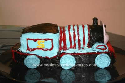 Homemade Thomas The Train Cake