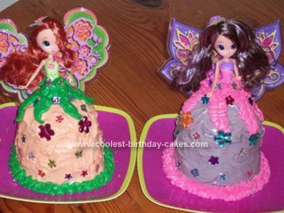 Homemade Thumbelina Barbie Birthday Cakes