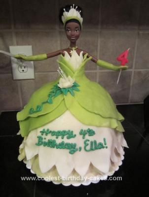 Homemade Tiana Doll Birthday Cake
