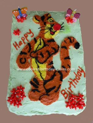 birthday cake cartoon images. Tigger Cartoon Cake Photo