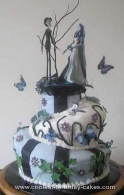 Homemade Tim Burton Corpse Bride Cake