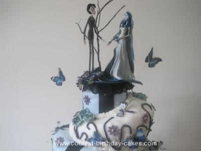 Homemade Tim Burton Corpse Bride Cake