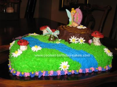 pictures of tinkerbell birthday cakes