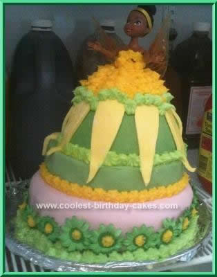 Homemade Tinkerbell Birthday Cake Idea