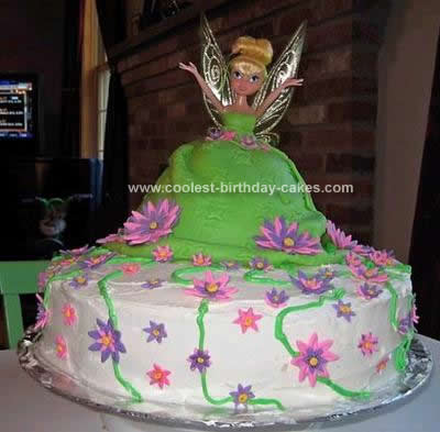 Girls Party Dress on Coolest Tinkerbell Birthday Cake Idea 97