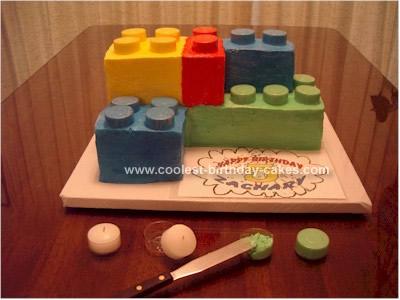 Cool Lego Block Cake