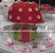 how to make a toadstool birthday cake
