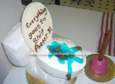 coolest toilet and plunger cake 6 long hairstyles. Black Bedroom Furniture Sets. Home Design Ideas