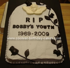 Homemade Tombstone Cake