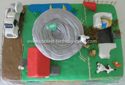 Coolest Tornado Alley Birthday Cake