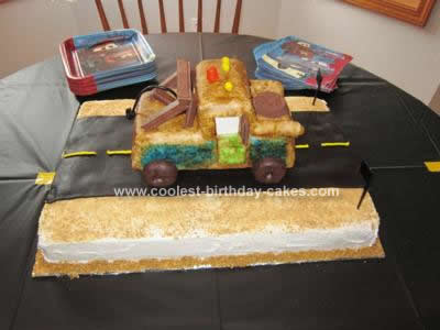 Homemade Tow Mater 3rd Birthday Cake