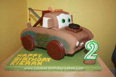 Coolest Tow Mater From Cars Cake Ideas Picture