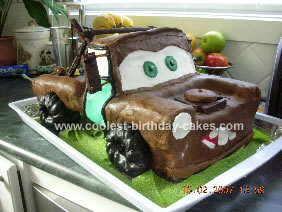 Pin Coolest Tow Mater From Cars Cake Ideas On Pinterest