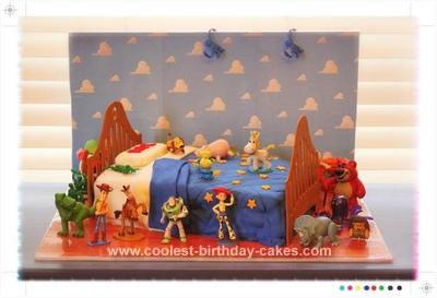 Homemade Toy Story 3 Birthday Cake