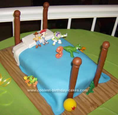 Homemade Toy Story 3rd Birthday Cake