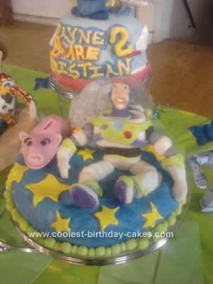Homemade Toy Story Birthday Cake Design