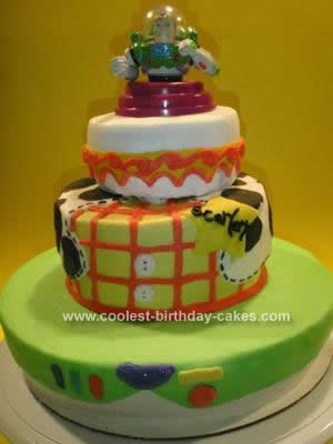 Homemade Toy Story Buzz Cake