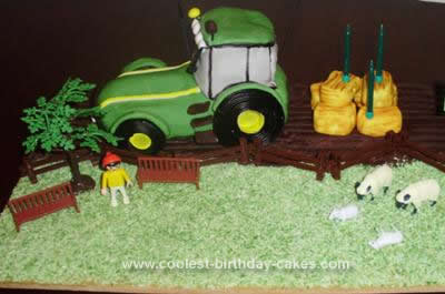 Homemade Tractor Birthday Cake Design