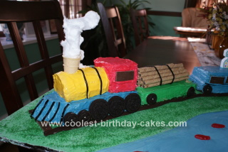 Homemade Train Birthday Cake